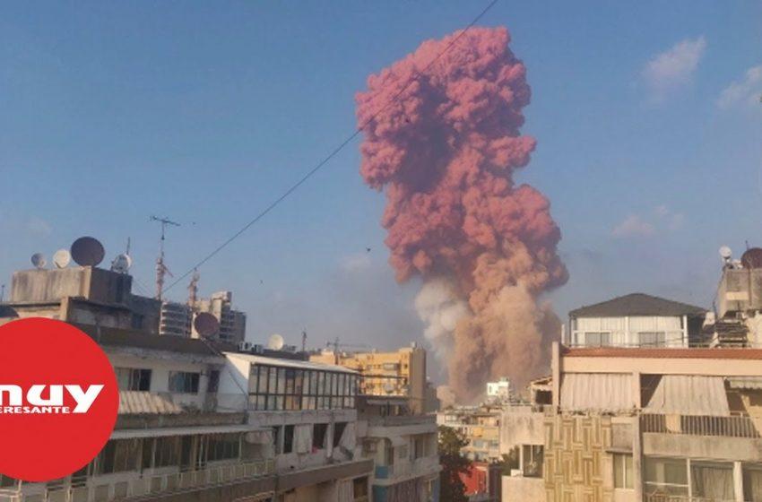 ¿A qué se debe el humo rojo de la explosión de Beirut?