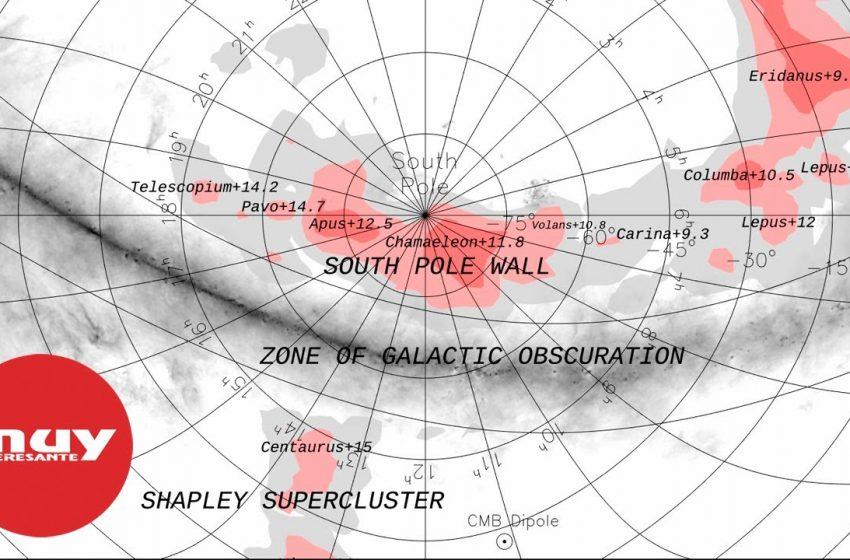 Descubren el Muro del Polo Sur, una de las mayores estructuras cósmicas descubiertas por el hombre