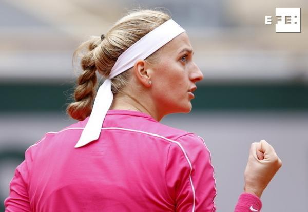 La checa Petra Kvitova logra la clasificación para los cuartos de final de Roland Garros al derrotar a la china Shuai Zh…