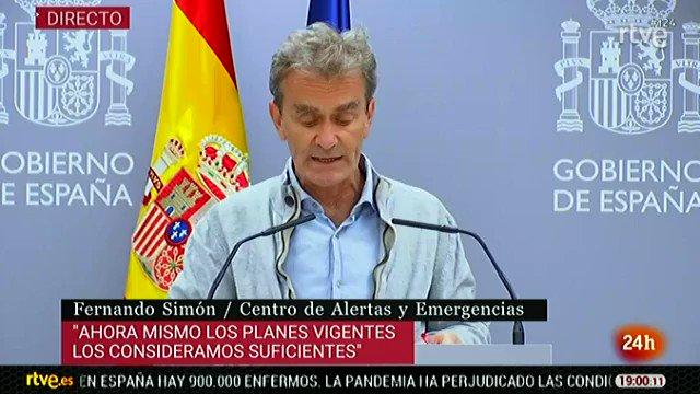 Fernando Simón: «Conceptualmente ir a un parque no es un riesgo, lo que es un riesgo son las concentraciones de persona…