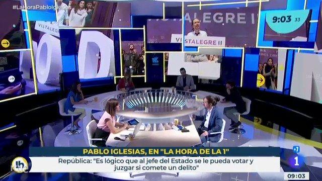 Pablo Iglesias, sobre conseguir que España llegue a ser una república, asegura que es «cuestión de tiempo»  #LaHoraPablo…