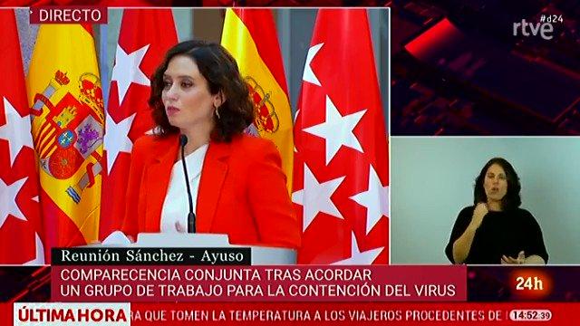 Isabel Díaz Ayuso: «Pretender tratar a Madrid como al resto de comunidades es injusto (…). Haré lo que sea para termin…