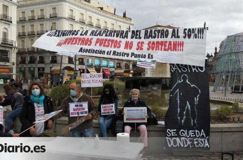 Los vendedores del Rastro de Madrid se reúnen para decidir si aceptan la propuesta de reapertura del Ayuntamiento …