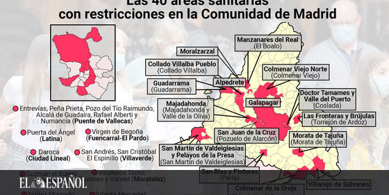 #LoMásLeído | Estas son las 40 zonas sanitarias restringidas en Madrid desde el lunes: la lista de barrios y pueblos …