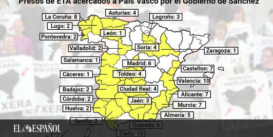 #LoMásLeído | Estos son los 103 etarras acercados por Sánchez: 25 tienen delitos de sangre y acumulan 111 asesinatos …