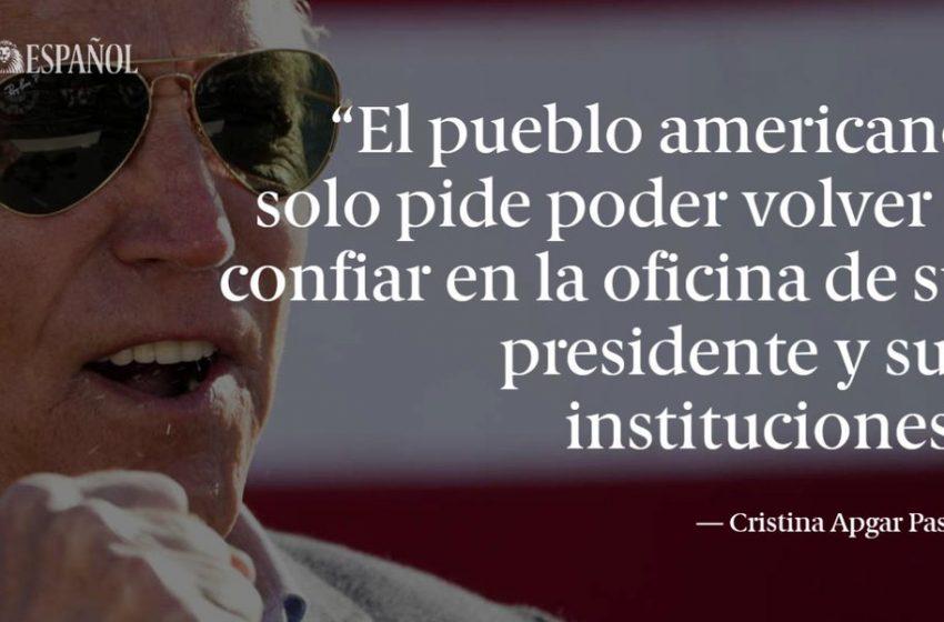 #LaTribuna | El encargo a Biden, por Cristina Apgar Pastor  …