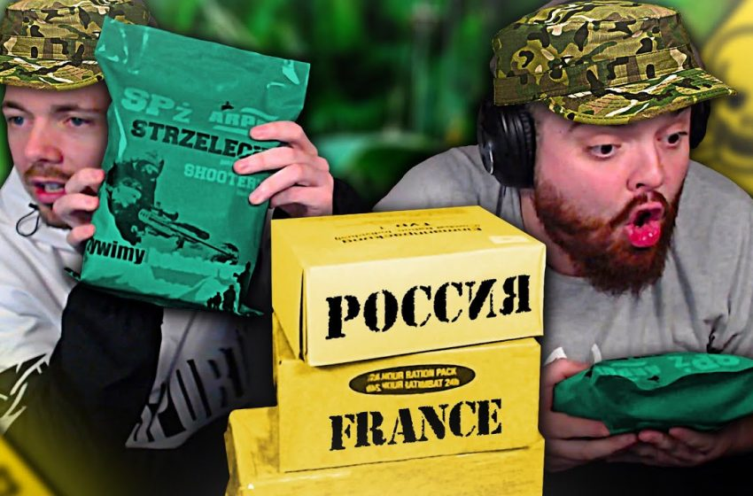 PROBANDO COMIDA MILITAR DE RUSIA Y FRANCIA *ESTÁ MUY MALA NINGUNA SORPRESA VINIENDO DE FRANCESES*