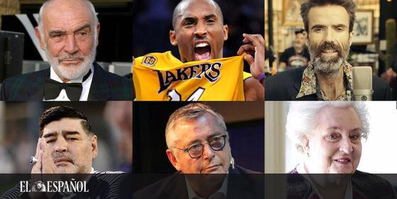 #Fotogalería | Sean Connery, Kobe Bryant, Pau Donés, Maradona, Michael Robinson…: los que nos han dicho adiós en 2020…