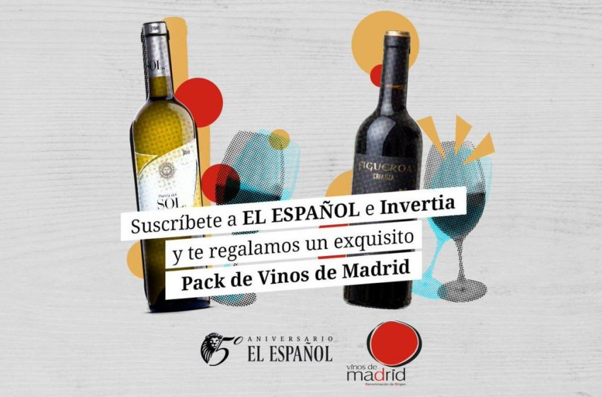 Suscríbete a EL ESPAÑOL e Invertia y llévate de regalo este Pack de Vinos de Madrid:   – 2 botellas de Figueiroa Crianza…