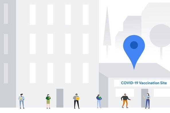 Google Maps registrará los puntos de vacunación de la Covid-19 para dar resultados a nivel local