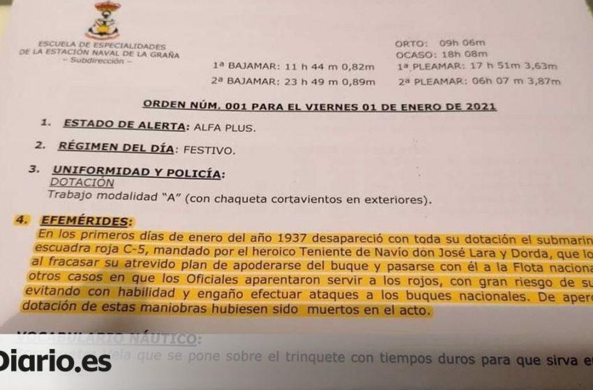 El BNG denuncia que la Escuela Naval de Ferrol celebró el hundimiento de un submarino de la «escuadra roja» durante la G…
