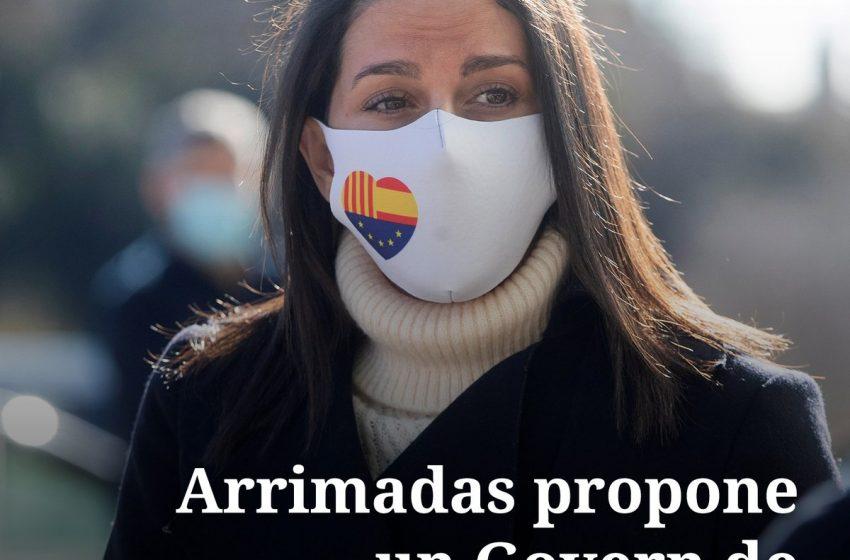 La presidenta de Ciudadanos, Inés Arrimadas, ha propuesto al PSC un Govern de coalición «sensato y moderado» tras las el…