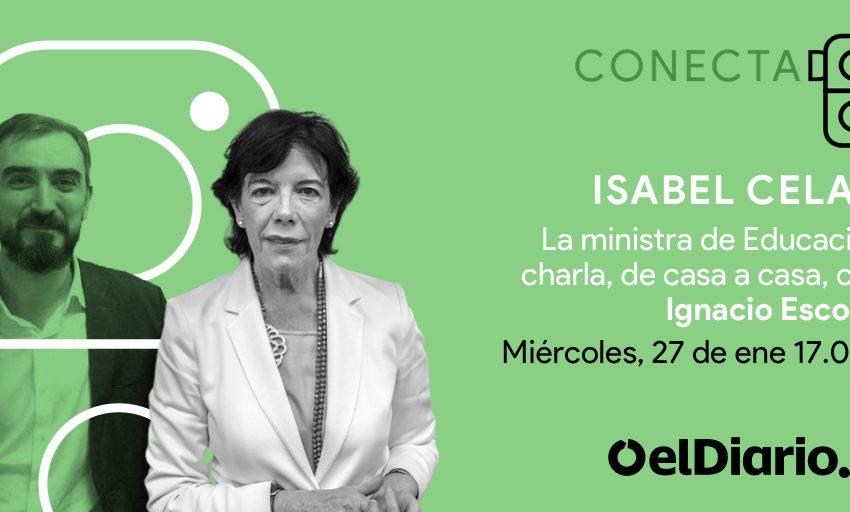 Hoy  17:00 horas  En  Facebook Live, y Twitter   La ministra de Educación @CelaaIsabel charla de casa a casa con @iesc…