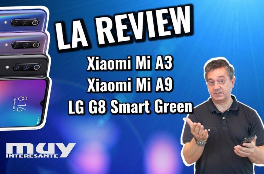 Análisis de los nuevos Xiaomi Mi A3, Xiaomi Mi A9, LG G8 Smart Green