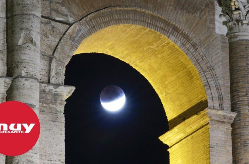 Las mejores imágenes del eclipse parcial de Luna desde  Europa