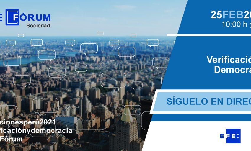 Nuevo #EFEFórum, en cooperación con el @PNUDperu   Expertos de la comunicación debaten sobre la desinformación y su im…