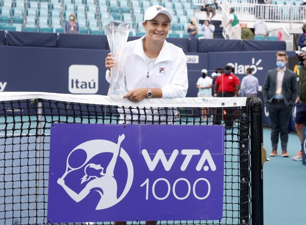 Barty añade el torneo de Miami al triunfo en Melburne como logros en 2021 para agrandar un historial que ya acumula diez…