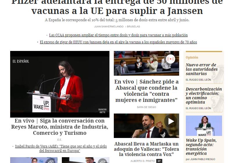#EnPortada | Pfizer adelantará la entrega de 50 millones de vacunas a la UE para suplir a Janssen   …