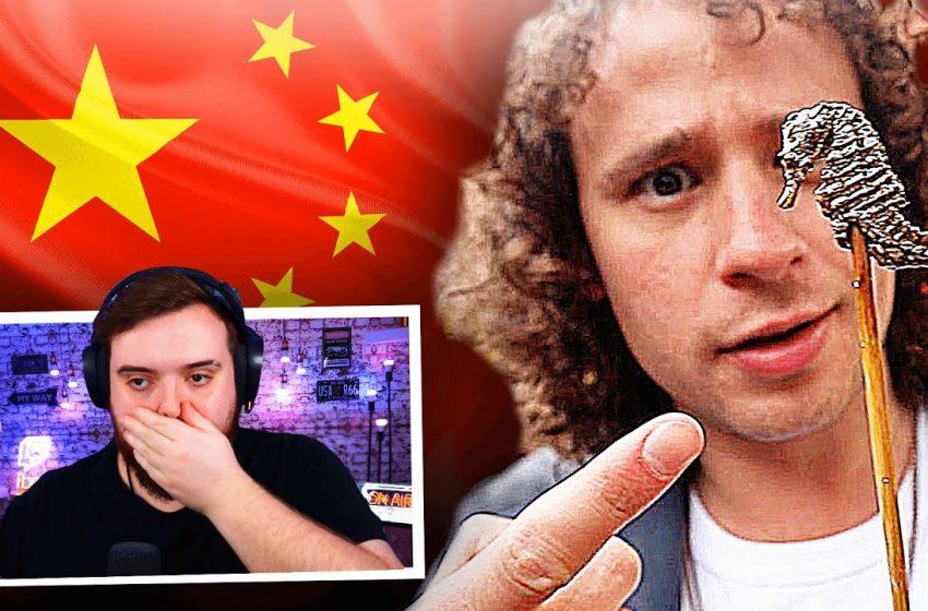 REACCIONANDO A LUISITO COMUNICA PROBANDO COMIDA CALLEJERA CHINA