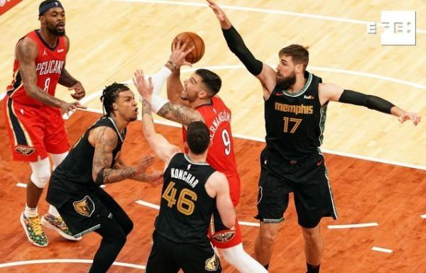 CRÓNICA | 115-110. Ante los Pelicans, Brooks y Valanciunas aseguran a los Grizzlies en el torneo play-in del Oeste en la…