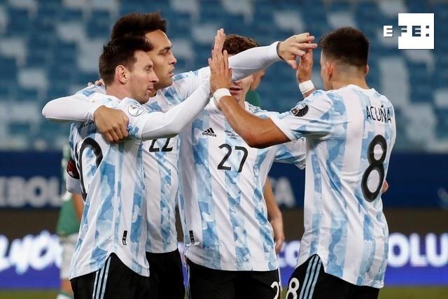 CRÓNICA   1-4. Messi comanda goleada de Argentina que asegura el liderato del Grupo A. #CopaAmérica   Sebastiao Moreira …