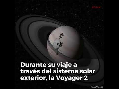 El viaje de la sonda espacial Voyager 2