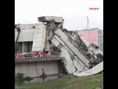 El derrumbe del puente Morandi