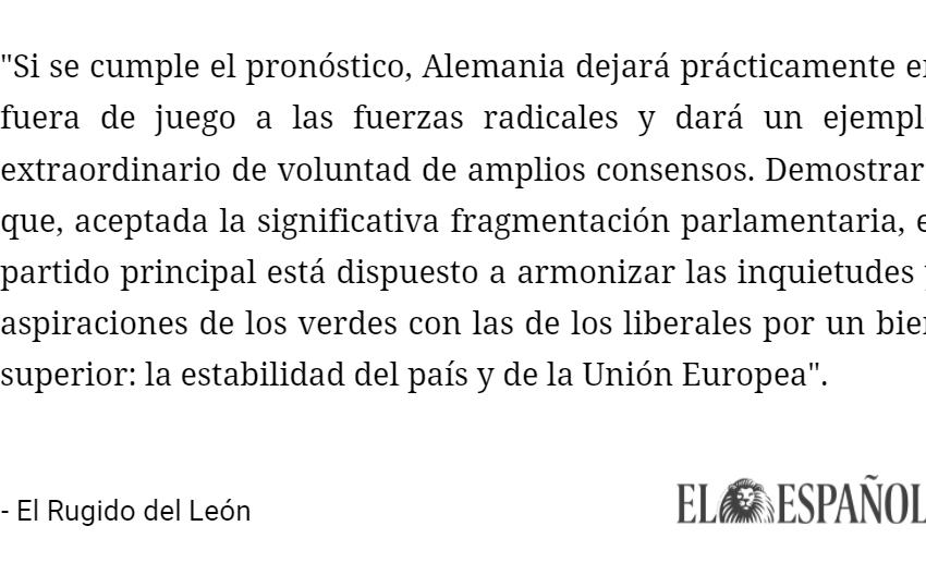 #LoMásLeído | La lección centrista de Alemania a España  …