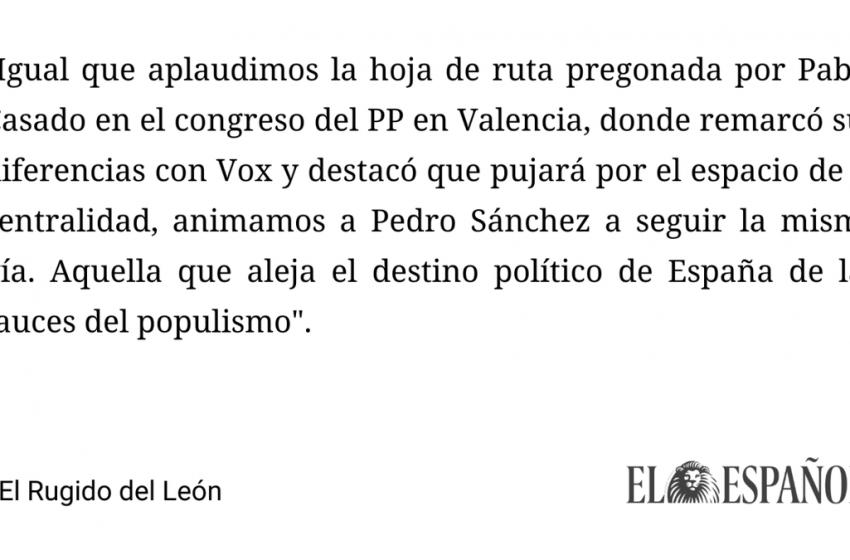 #Editorial   El necesario abandono del PSOE a Podemos  …